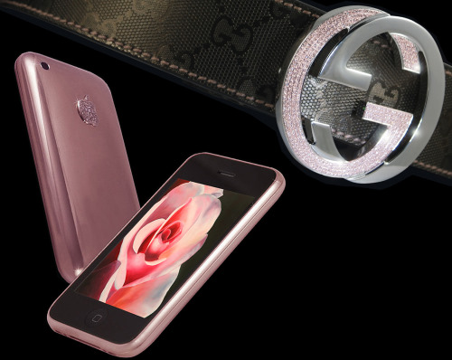 Goldstriker Announces the 18ct Solid Rose Gold iPhone 3GS Diamond and the Gucci Pink Diamond Belt (2)