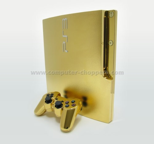 The 24kt Gold Playstation 3 Slim From Computer Choppers