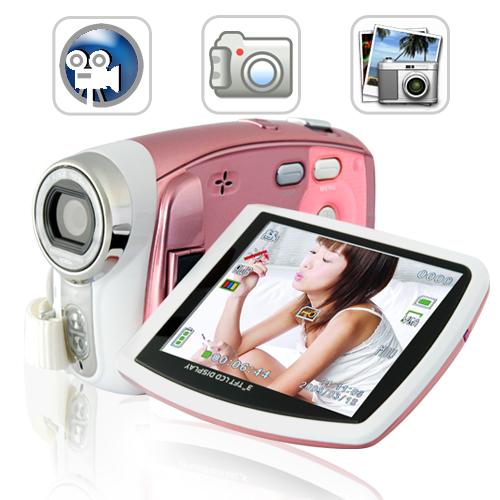 Pink Digital Camcorder Named Paris