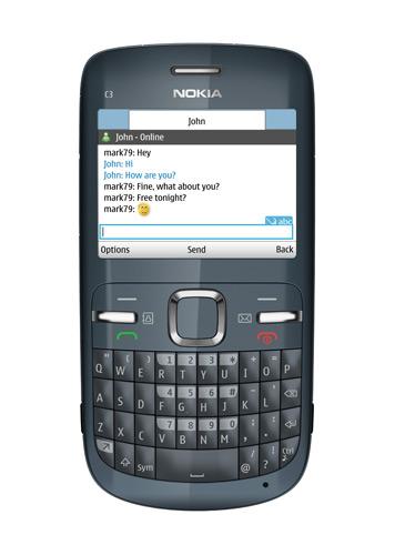 Nokia C3 in Hot Pink