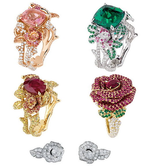 Dior Roses With Diamonds and Precious Stones