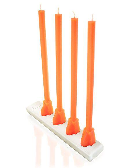 Candlesticks in a Power Strip