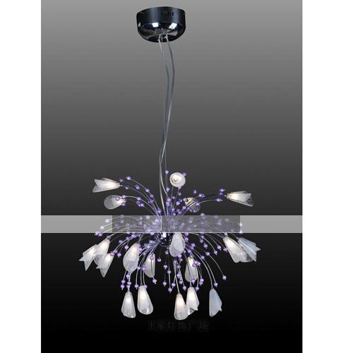 Flower Shaped 20 Light Chandelier