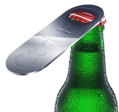 Art Lebedev Ctrl O Bottle Opener