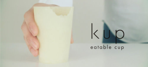 Kup by sugiX is a Real Cup Made of Rice