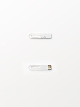 USB Paperclip by Hiroshi Iwasaki