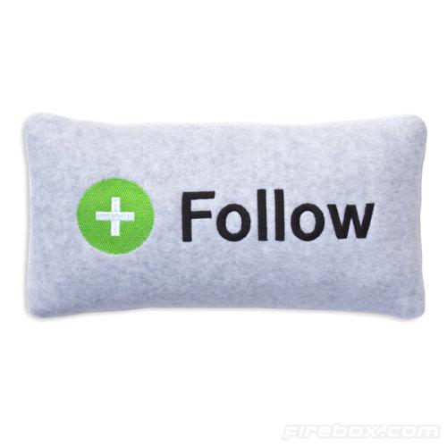 Facebook Follow Head Pillow
