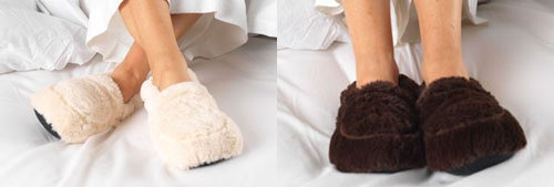 Furry Warmers Microwavable Slippers