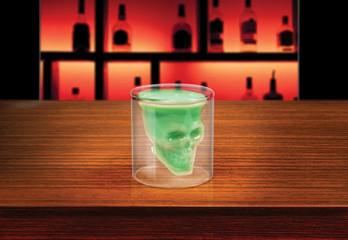 Shotglass With Skull Inside