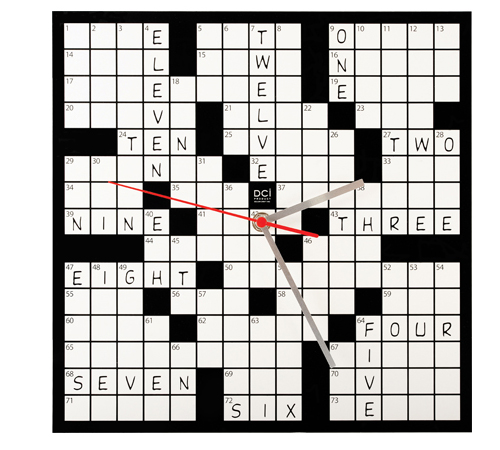 Decorative Crossword Clock Can be Filled With Answers