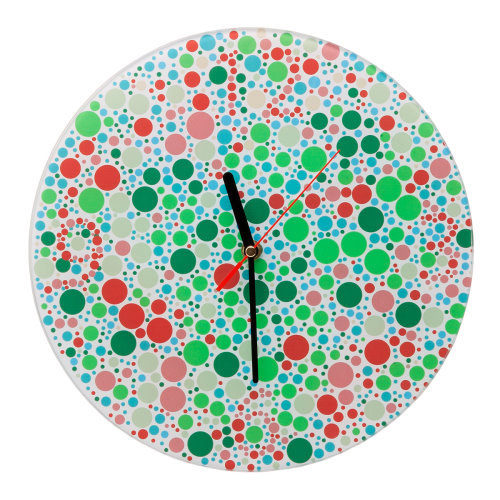 Decorative Wall Clock Hides Numbers With Colored Dots