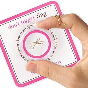 Wear This Small Gold Bow Ring in the Middle of the Finger
