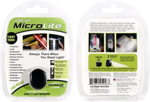 Win a Pop-up MicroLite Adhesive Light
