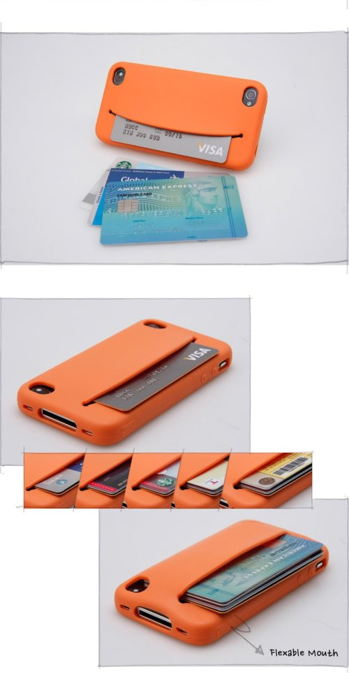 iPhone Case That You Can Feed With Money, Cards and Cables