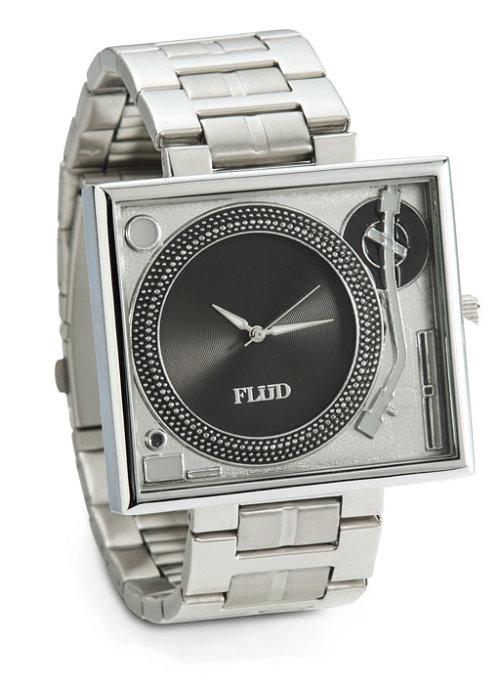 Turntable Metallic Watch