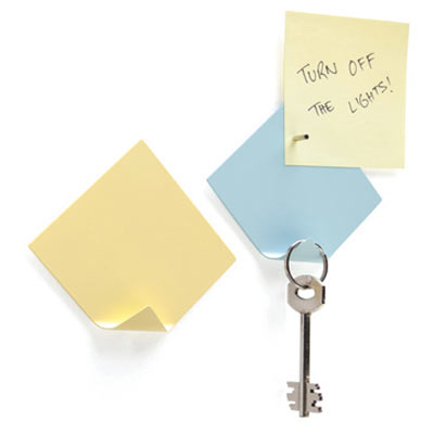 Magnetic Sticky Notes With Key Hanger