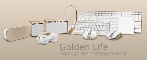 Rapoos New Wireless Gold Series of Peripherals Matching iPhone 5s Gold (5)