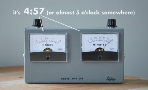 analog voltmeter clock (4)