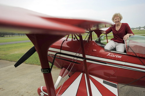 Karen Greenfield in her Pitts Special