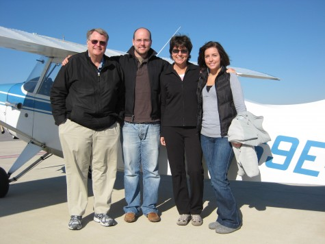 The whole family; Boyd, Craig, Judy & Jessica on the ramp at KGEZ
