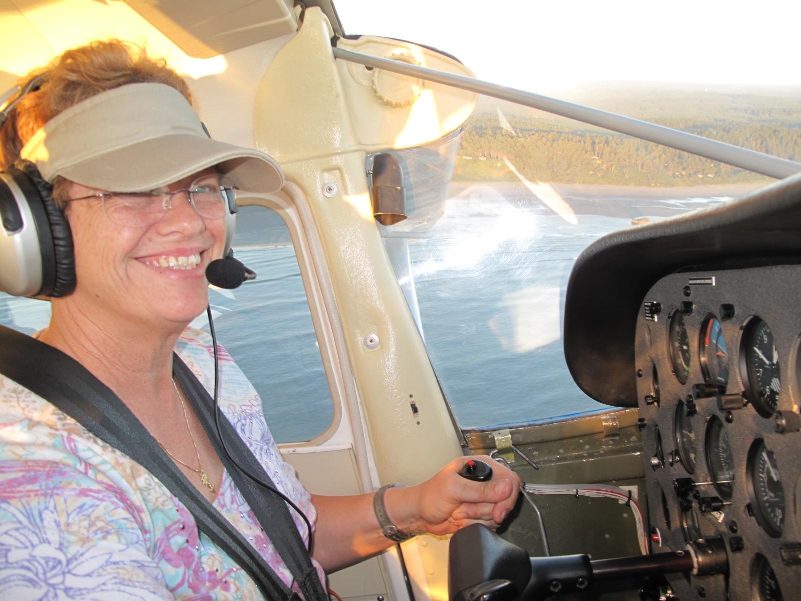 Coby Sena's flight to Copalis State Beach Airport, Washington