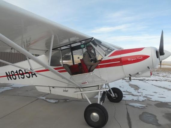 Commuting to work in the Cub!