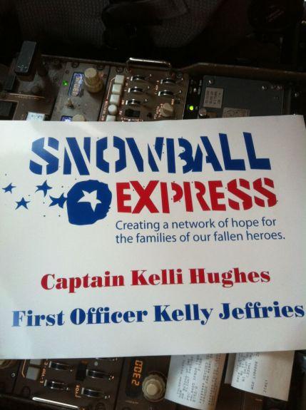 Kelli Hughes Snowball Express sign