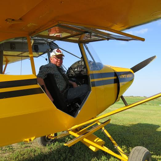 Jerome Behm from North Dakota & his 1947 Piper PA-12-150
