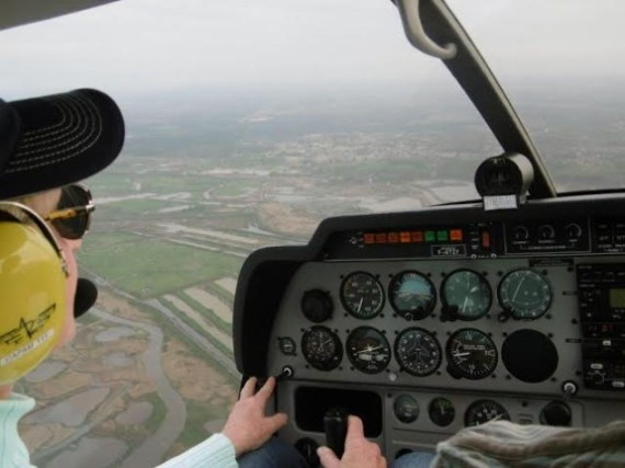 In the robin approaching the Arachon Basin in France.  What a spirited little plane