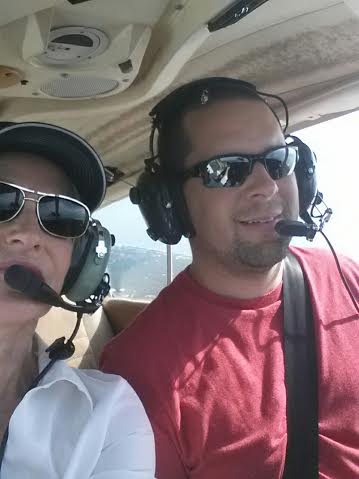 First ride with my son after getting his pilot license