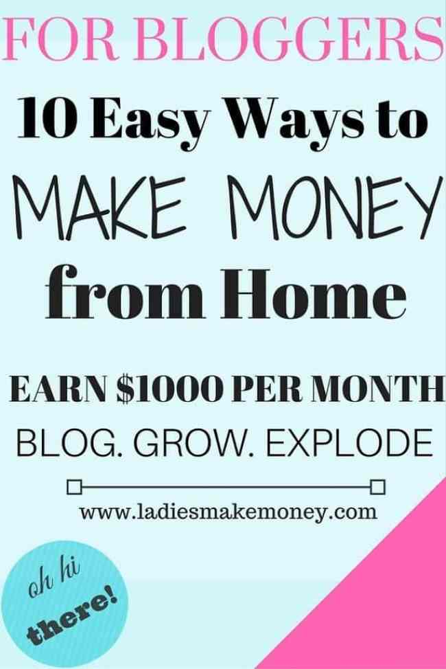 10 easy ways to make money from home and earn a full income
