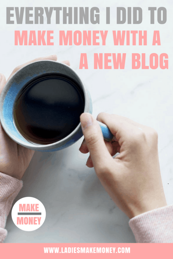 Blog income report. Tips on how to make money from home as a full-time blogger. Everything I did to make money on my brand new blog. First blog income report. Make Money blogging. How to make money with a blog as well as tips to increase your blog traffic #blogincome #makemoneyblogging #makemoneyonline