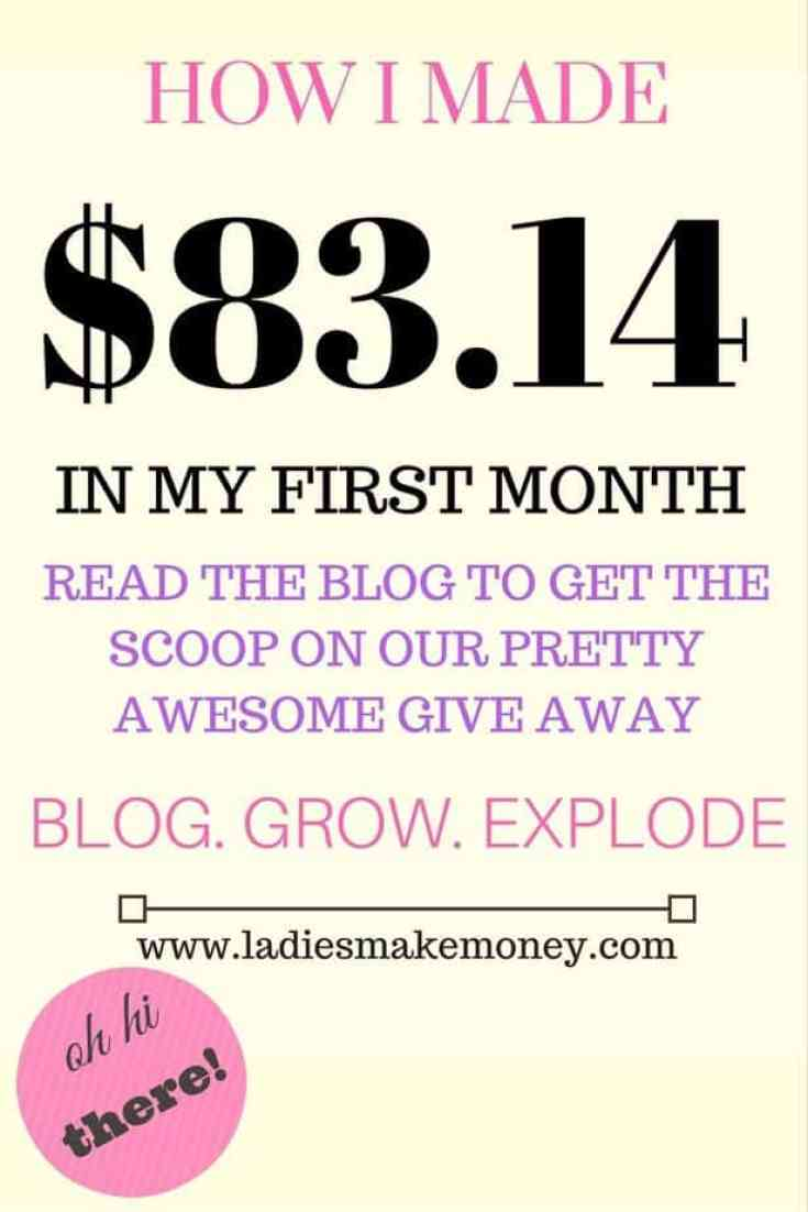 Blog Income Report- how i made money on my first month