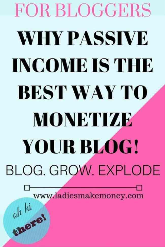 Passive income for bloggers. The best way to make money online.