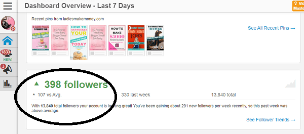 Get Pinterest followers with Tailwind