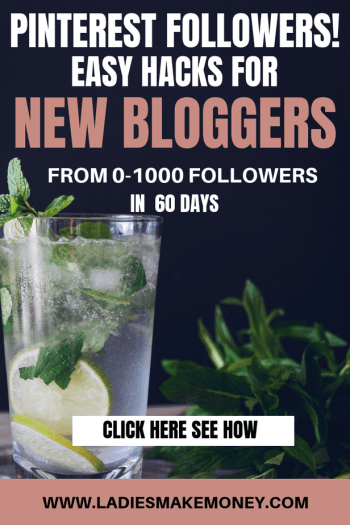 How to get Pinterest Followers. If you are a new blogger looking to grow your Pinterest followers, follow our solid strategy. Learn the super simple and easiest ways to gain more followers on Pinterest. This will get your more blog traffic. #pinterestmarketing #pinterestfollowers #ladiesmakemoney
