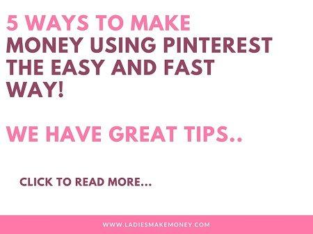 5 Ways to make money using Pinterest the easy way