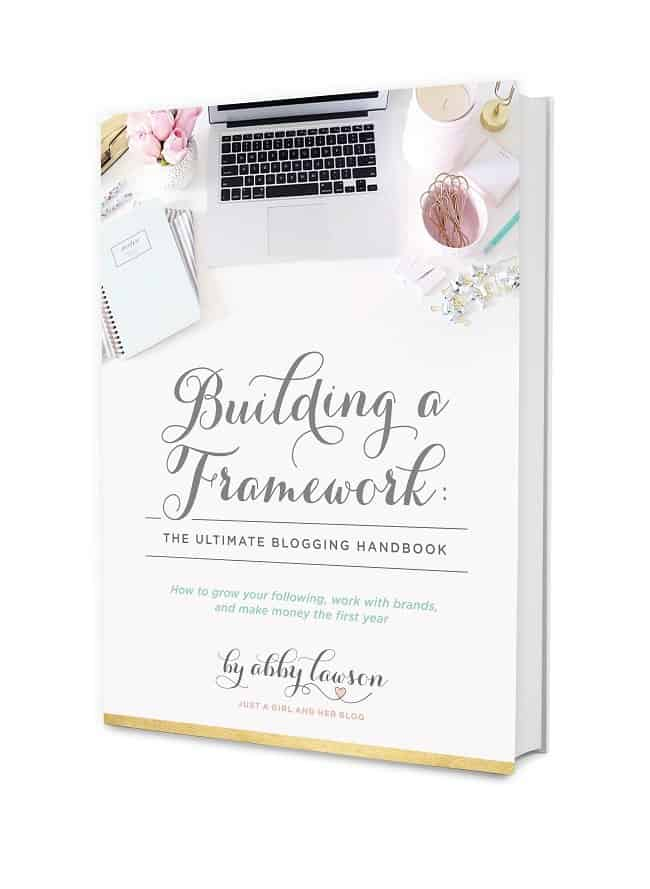 Building a framework course with Abby from Just a girl and her blog. How to start a successful blog