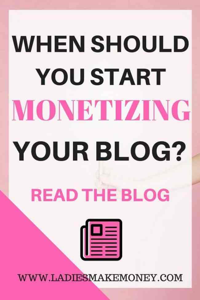 When should you start Monetizing your blog as a business-