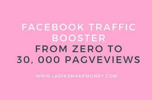 Facebook booster from zero to 30, 000 pageviews