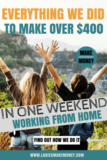 how i made over 400 this weekend using an easy side job