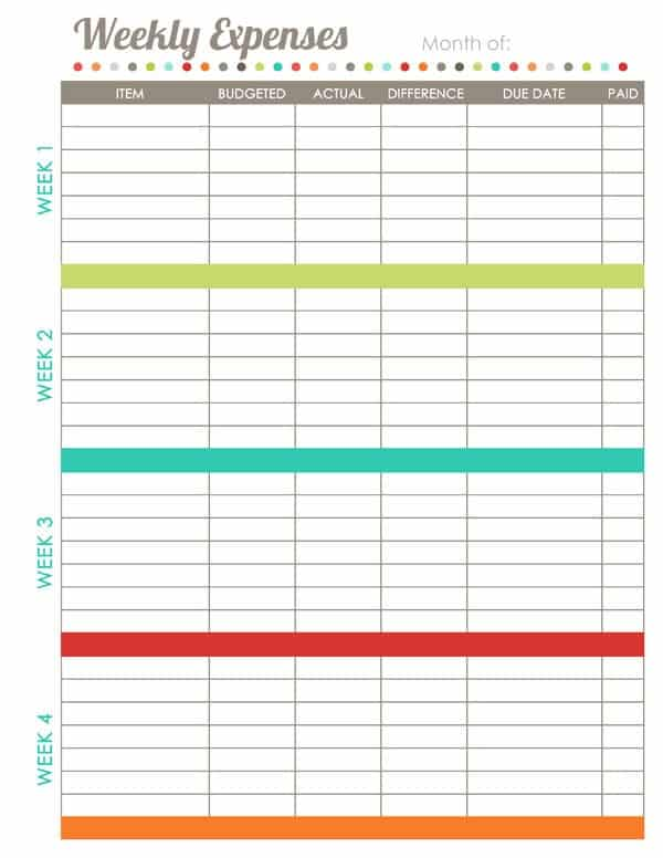 template for budgeting money - 17 brilliant and free monthly budget template printable