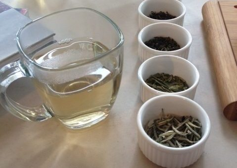ATTIC tea tasting setup