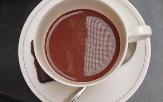 A cup of Neuhaus hot chocolate in Belgium.