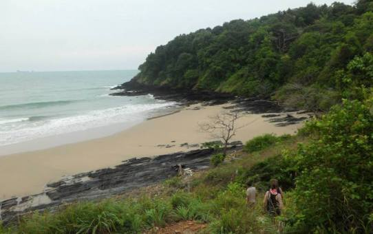 A secluded beach at Koh Lanta.