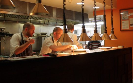 The open kitchen at Hotel TerraVina.