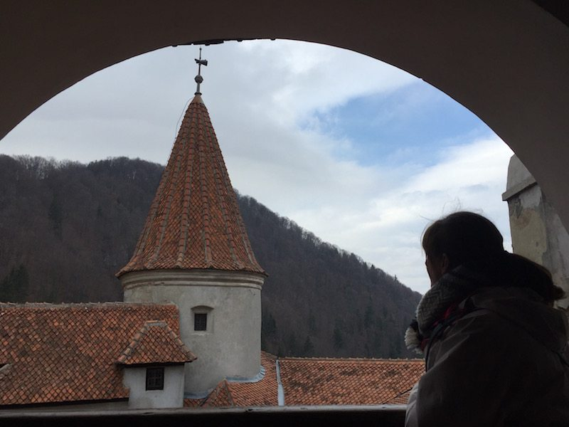 Looking out from the top of Bran Castle - also known as Dracula's castle, even though there's no proof Vlad the Impaler ever visited!