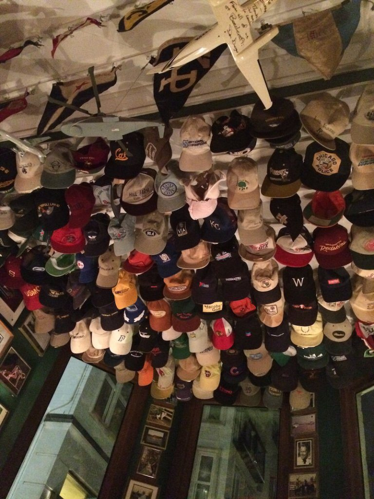 The American Bar - Baseball caps everywhere!