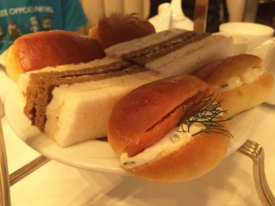 Savouries in the afternoon tea at Hotel Bristol, Warsaw | Ladies What Travel