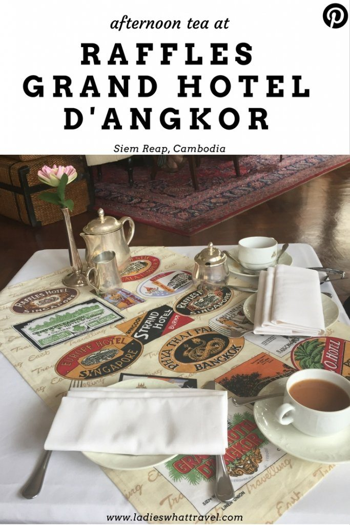 Afternoon tea at Raffles Grand Hotel d'Angkor | Ladies What Travel